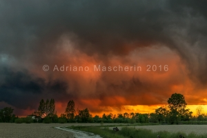 Tramonto con temporale - Sunset with storm