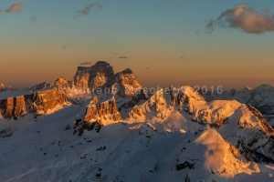 Tramonto dal Lagazuoi - Sunset from Lagazuoi mountain