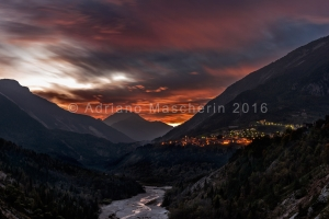 Tramonto a Erto - Sunset in Erto in the Vajont valley