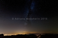Via Lattea dal bivacco Vuerich - Milky way from Luca Vuerich bivouac over Foronon of Buinz