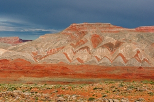 Coloured patterns near Mexican Hat
